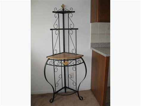 Black Metal Corner Shelf by Corner Unit Shelf Black Metal With Wood Nepean Ottawa
