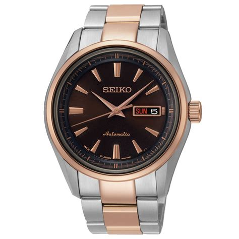 seiko srp536j1 gents steel gold automatic