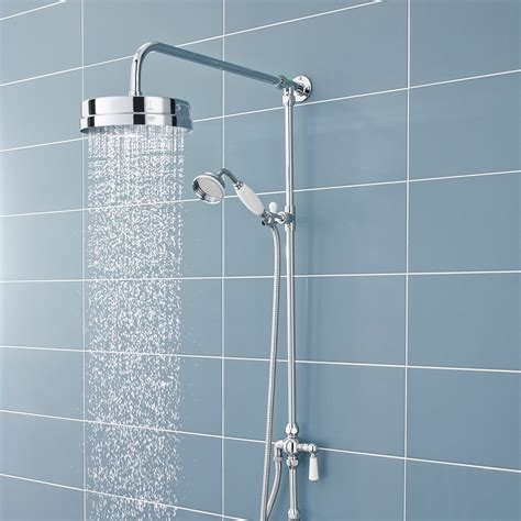 Shower With Diverter by Ultra Traditional Dual Exposed Thermostatic Shower Valve