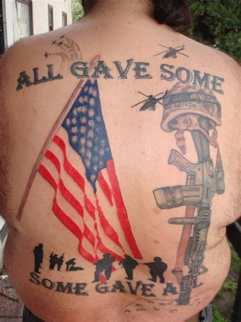 tattoos honoring the memory of us soldiers sick tattoos