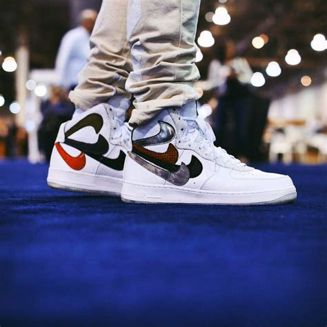 Air Background Check Nike Air 1 Custom Quot Misplaced Checks Quot Sneakers Shoes Heels Air