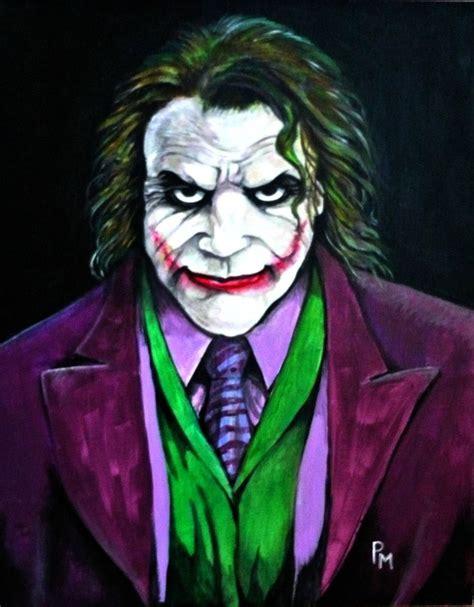 acrylic painting of joker joker painting by pm graphix on deviantart