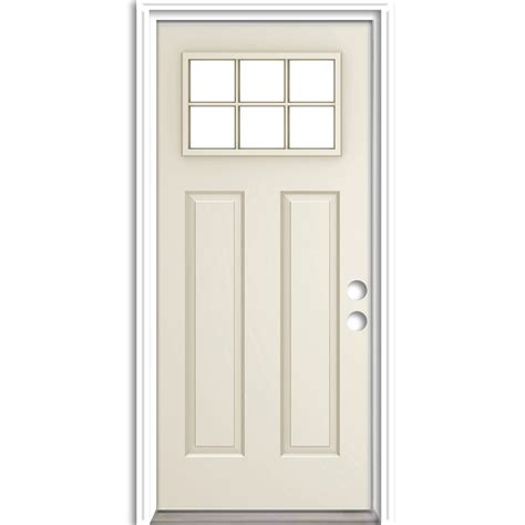 32 X 80 Exterior Door Shop Reliabilt Prehung Inswing Steel Entry Door Common 32 In X 80 In Actual 33 5 In X 81 75