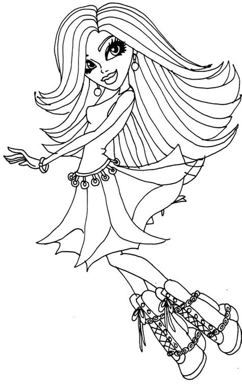 monster high printable coloring pages spectra vondergeist monster high coloring pages coloring home