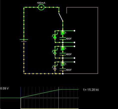 supercapacitor balance capacitor charging circuit electrical engineering stack exchange