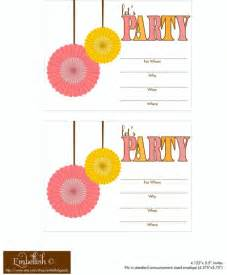 free printable invitations for birthday