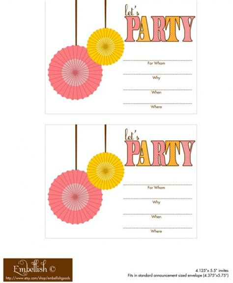 printable party decorations birthday free printable invitations for girls birthday party