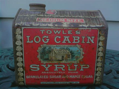towles log cabin syrup tin copyrighted  collectors weekly