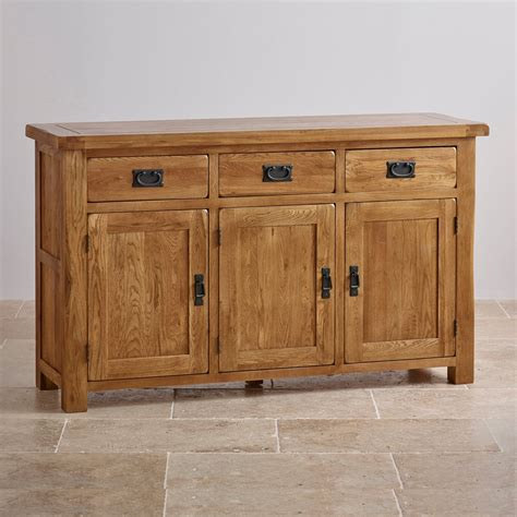 Rustic Solid Oak Sideboard original rustic large sideboard in solid oak oak