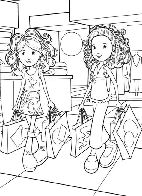 shopping for sheets groovy girls shopping coloring pages maddie grace