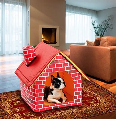 great house dogs etna portable brick dog house warm and cozy indoor outdoor great for dogs cats