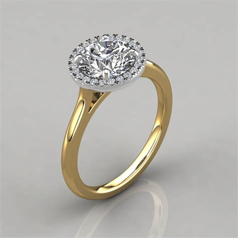 Yellow Gold Halo Engagement Rings Brilliant And by Plain Shank Floating Halo Engagement Ring Puregemsjewels
