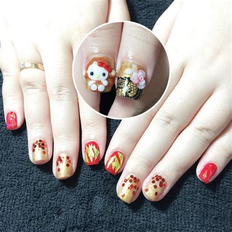 easy nail art gold 26 red and gold nail art designs ideas design trends