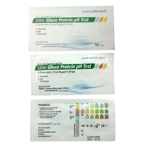 Alat Tes Protein Urin jual urine gluco protein ph test onemed box isi10