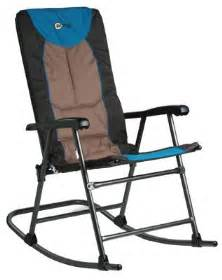outdoor metal folding rocking chair padded seat portable
