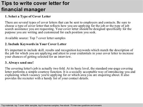 finance manager cover letter best sample for position 40 structure a