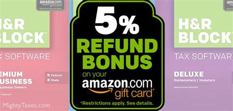 H R Block Gift Card Bonus 2017 - h r block offers tax refund bonus on amazon com egift card 2018