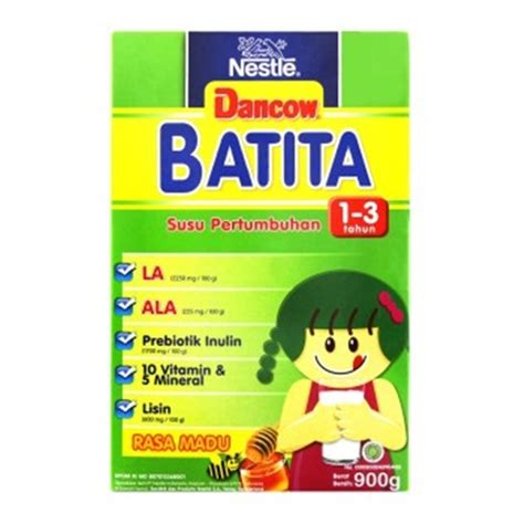 Dancow Milk Powder Dancow Batita Madu 900 Gram