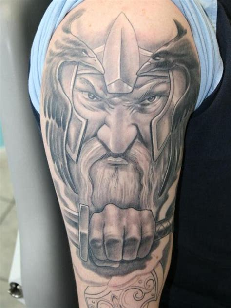 great grey pictures tattoos photos great grey ink viking tattoo on man right half sleeve