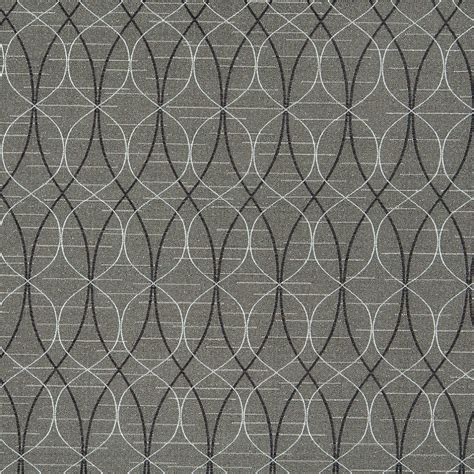 Black And Grey Upholstery Fabric grey black and silver overlapping ovals upholstery fabric