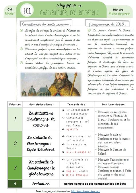 how to format resume in word histoire cycle 3 s 233 quence compl 232 te charlemagne