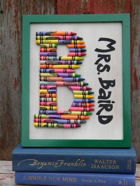 Gift Letter Signed Monogram Crayon Gifts Classroom And So