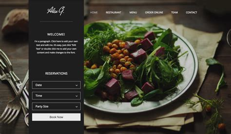 Restaurants Food Website Templates Wix Restaurant Website Template With Ordering