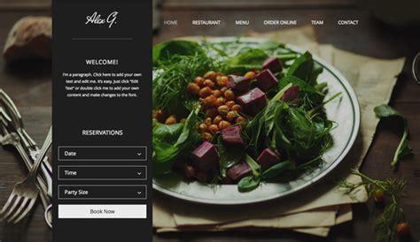 Restaurants & Food Website Templates   Wix
