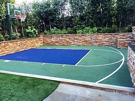 snapsports cool backyard basketball court install