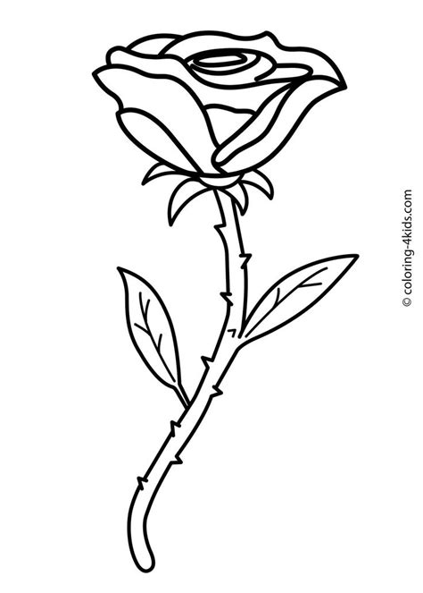 coloring pages flower rose 1000 images about flowers coloring pages on pinterest