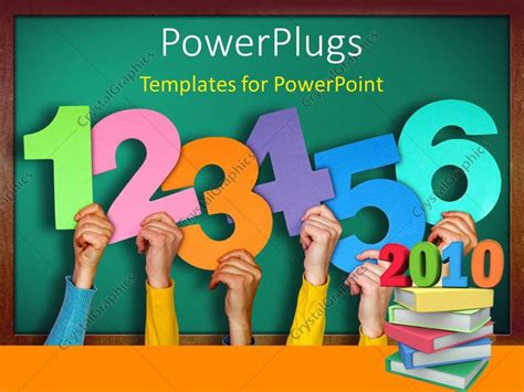 Powerpoint Presentation Templates For Numbers | powerpoint template a lot of numbers with hands 25866