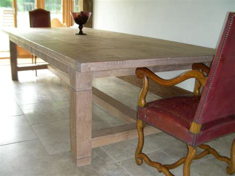 Oak And White Kitchen Table 16 Seater Handmade Refectory Kitchen Table In White Oak Quercus Furniture