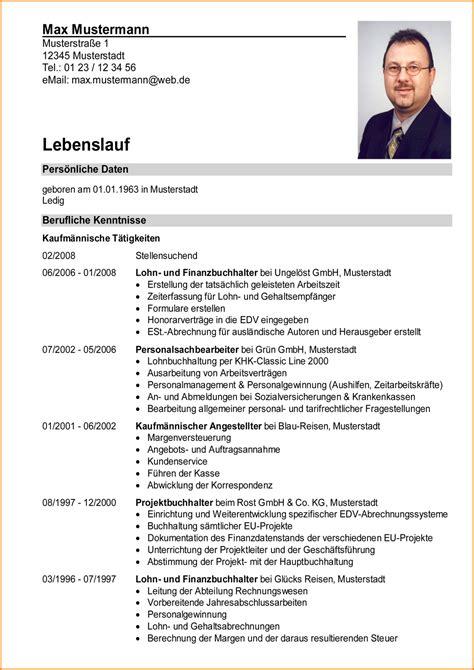 Lebenslauf Beispiel Fur Universitat 7 Tabellarischer Lebenslauf Beispiel Questionnaire Templated