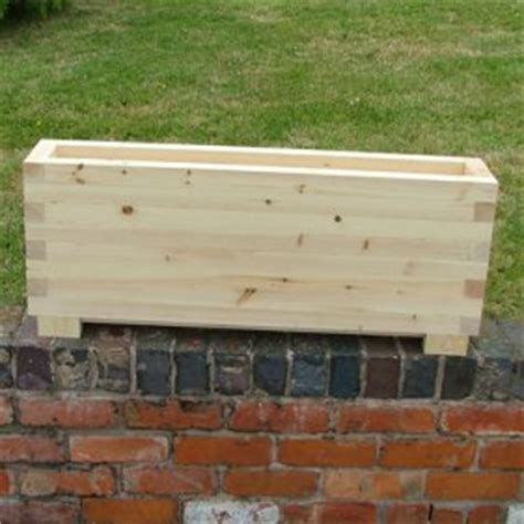 Narrow Trough Planter by Trough Planters The Oli Wooden Planter