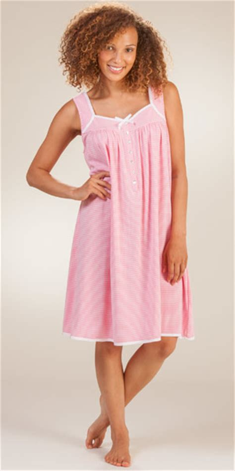 cotton knit nightgown eileen west gowns cotton knit sleeveless striped