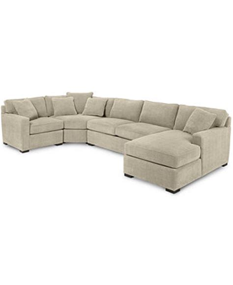 Macys Sectional Sofa Radley 4 Fabric Chaise Sectional Sofa Furniture Macy S