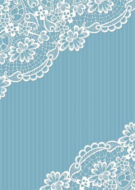 vector blue lace wedding background blue vertical
