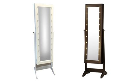 Mirror Jewellery Cabinet With Lights Cabinets Matttroy