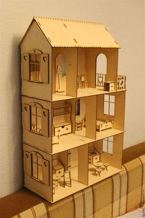 Handmade Doll House - dollhouse 3 floors shop on livemaster with