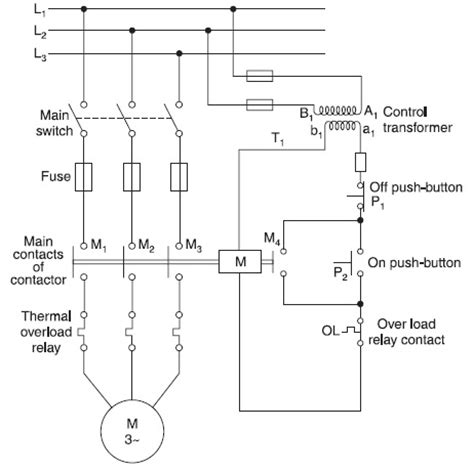 direct motor circuit diagram circuit and