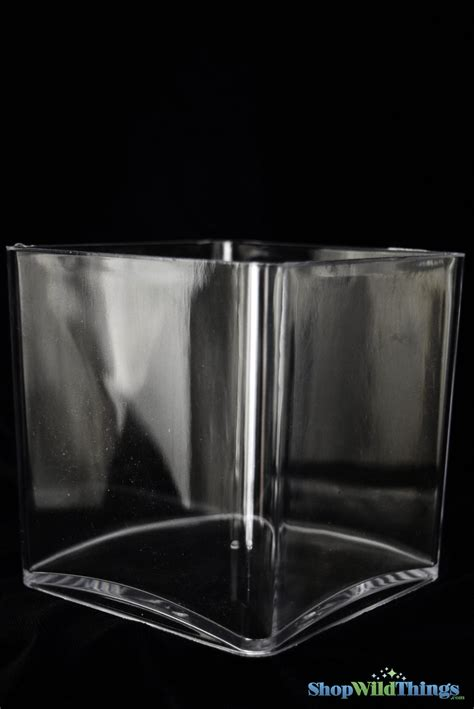 Acrylic Vase by Clear Acrylic Cube Vase Square 5 Inches Great For