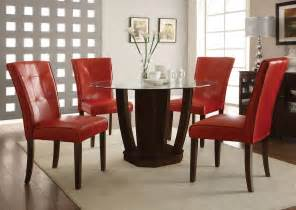 Dining Table Leather Chairs Charles 120 Cm Dining Table With 4 Brook Faux Leather Chairs Dining Room Chairs