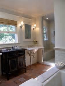 terra cotta bathroom floor transitional bathroom lori gilder