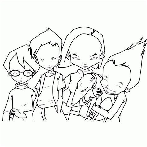 code lyoko coloring pages coloring home