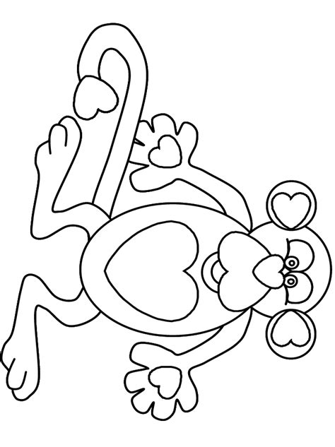 monkey valentine coloring pages heartmonkey valentines coloring pages coloring book