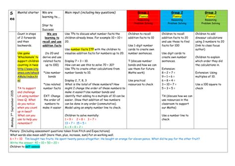 addition planner year 3 maths subtraction planning by alanda2009 teaching