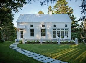Simple Farmhouse by Really Simple One Story With Tall Front Metal Roof All