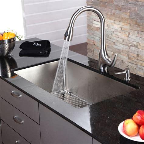Kraus 32 Inch Undermount Sink by Kraus 32 Inch Undermount Single Bowl Steel Kitchen Sink