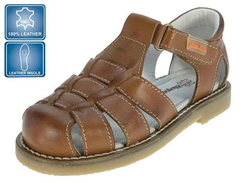 brown sandals for toddler boy beppi boys brown leather sandals infant size 9 loar shoes