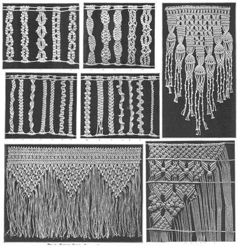 Macrame How To - macrame book patterns designs titanic era lace